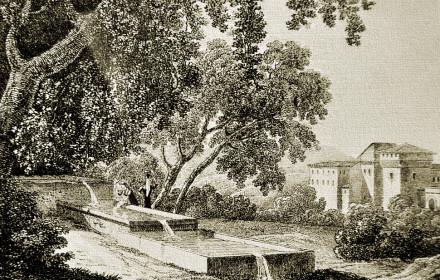 il fontanaccio, litografia